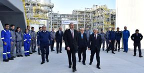 Ilham Aliyev attended inauguration of SOCAR carbamide plant in Sumgayit